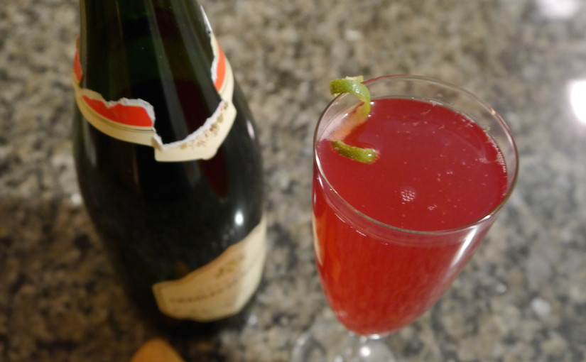 Day 1: Cranberry Champagne cocktail